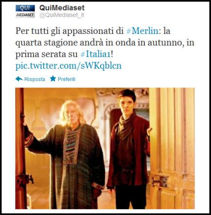 """""""Merlin"""": la quarta serie su Italia Uno in autunno in prima serata! Parola di Mediaset!"""