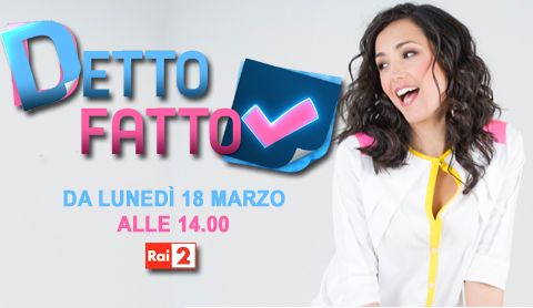 """""""Detto fatto"""" con Caterina Balivo: nella prima puntata come organizzare un matrimonio"""