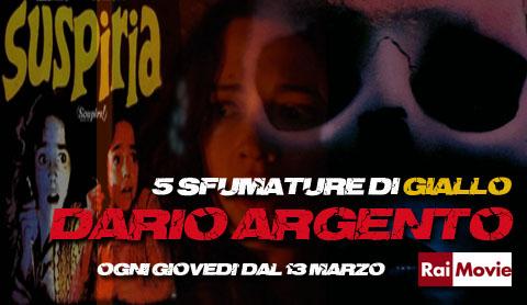 5 sfumature di giallo, una breve rassegna di film da bridivo di Dario Argento su Rai Movie