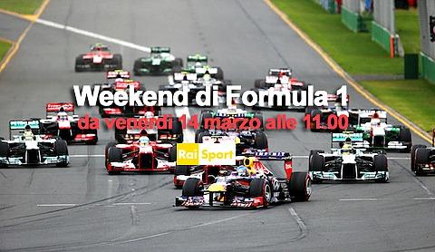 Formula Uno, nel weekend il Gp sulle reti Rai