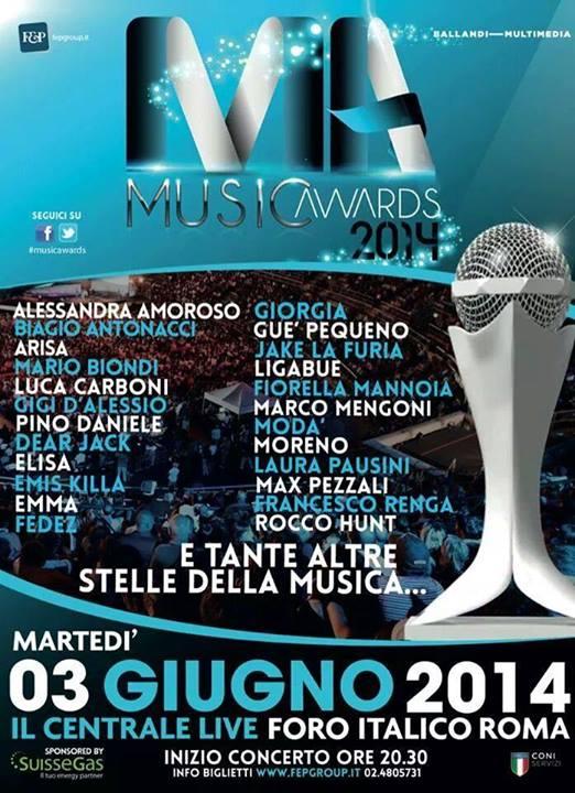 Music Awards 2014, il 3 giugno 2014 in diretta Rai Uno e Radio due: nel cast anche i Dear Jack