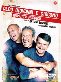 """""""Ammutta Muddica"""", lo spettacolo di Aldo, Giovanni e Giacomo dall'8 maggio in prima serata Canale 5"""