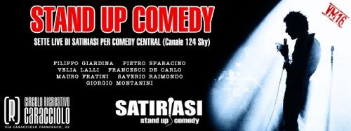 Stand up comedy, il primo show live su Comedy Central