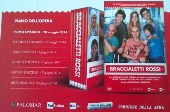 """Fiction: """"Braccialetti Rossi"""", i DVD in edicola dal 20 Maggio con """"Il Corriere della Sera"""""""