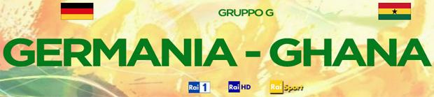 Mondiali 2014, questa sera Germania-Ghana: gli appuntamenti Rai e Sky