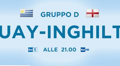 Brasile 2014, Uruguay-Inghilterra diretta su Rai Uno e Sky
