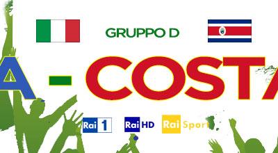 Italia-Costa Rica, diretta su Rai Uno, Rai Sport e canali Sky Mondiale