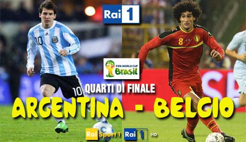Mondiali Brasile, ultimi quarti di finale con Argentina-Belgio