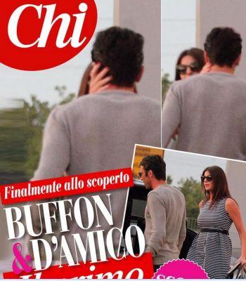 Gigi Buffon e Ilaria D'Amico, incontro al…bacio! [Foto]