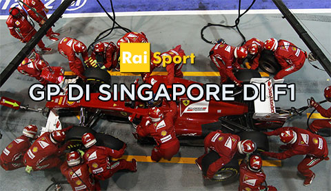 Gp di Singapore di F1 nel weekend di Rai Sport