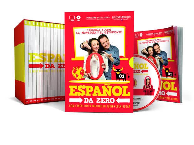 """""""Espanõl Da Zero"""", il nuovo corso di lingua spagnola di Peter Sloan in uscita con Gazzetta dello sport e Corriere della Sera"""