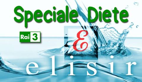 Elisir speciale diete, lunedi 5 gennaio in seconda serata Rai tre