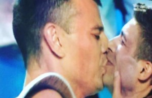 italia's got talent, bacio gay
