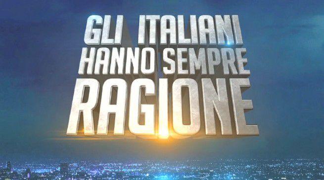 Ascolti tv del 3 luglio 2015: serata vinta da Gli italiani hanno sempre ragione