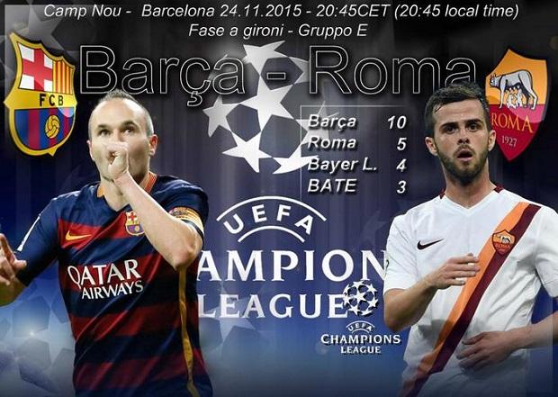 Ritorna la Champions con Barcellona-Roma: lo sport in tv del 24 novembre