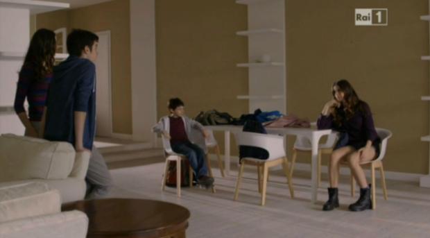 Bea, Laura, Umberto e Pigi alla villa