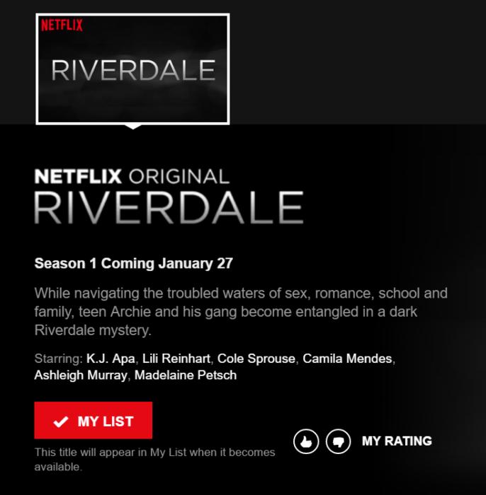 Riverdale su Netflix