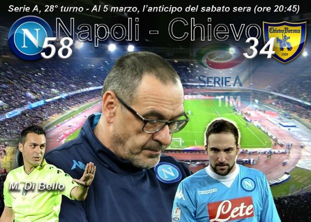 Napoli-Chievo per gli anticipi di Serie A nello sport in tv del 5 marzo 2016