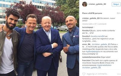 L'isola dei famosi, cosa ci fa Cristian Gallella tra Enzo Salvi e Massimo Boldi?