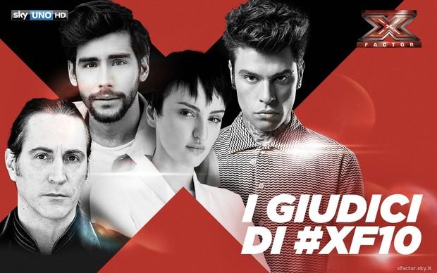X-Factor 10, ecco le categorie assegnate ai quattro giudici