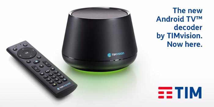 TIM presenta il nuovo decoder TIMVISION con Android tv