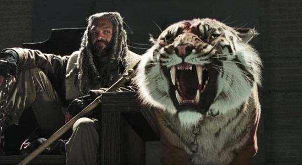 The Walking Dead 7: nessuna tigre sul set, ecco come è stata realizzata Shiva
