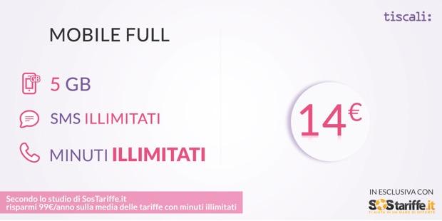 Con SosTariffe.it, le nuove offerte Tiscali Mobile