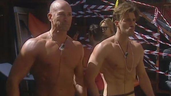 Grande fratello vip, i muscoli di Bettarini e l'omofobia di Clemente Russo (daytime del 23 settembre)