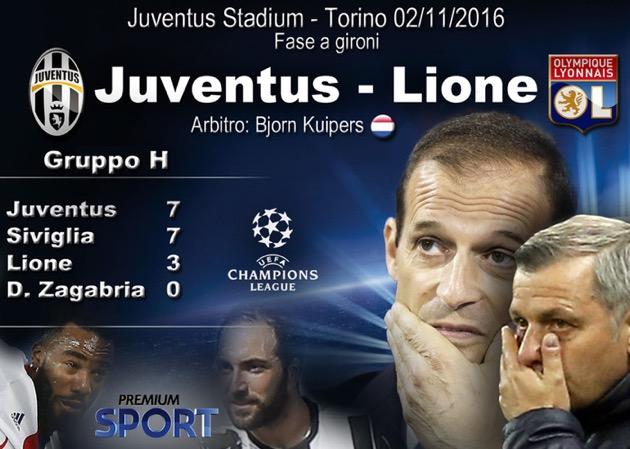 Juventus - Lione 1-1: Tolisso risponde a Higuain e rimanda la festa bianconera
