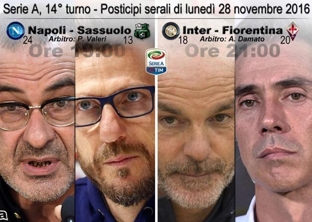 Inter-Fiorentina per la Serie A e gli altri sport del 28 novembre
