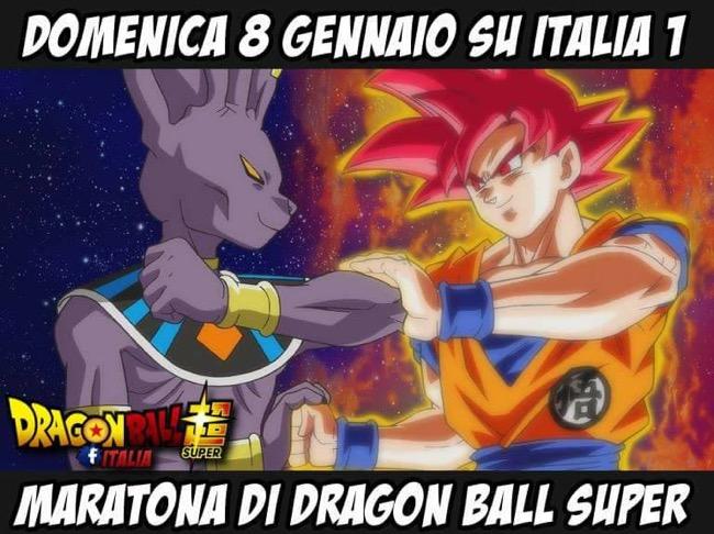 Dragon Ball Super, domenica 8 gennaio maratona su Italia Uno