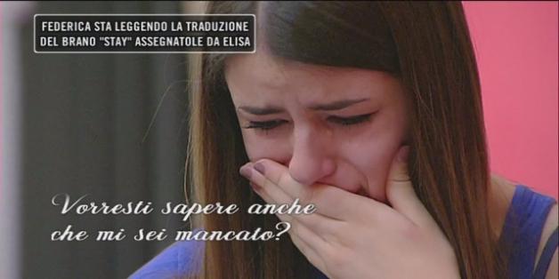 Amici 16 fase serale: le lacrime di Federica (daytime del 16 maggio)