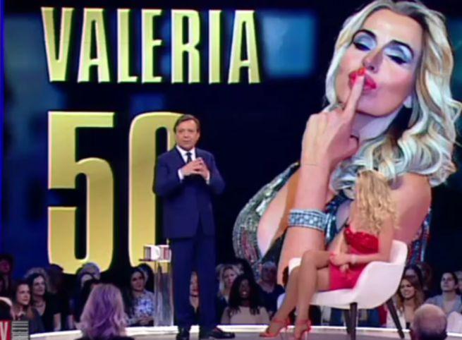 Valeria Marini festeggia 50 anni a Matrix Chiambretti