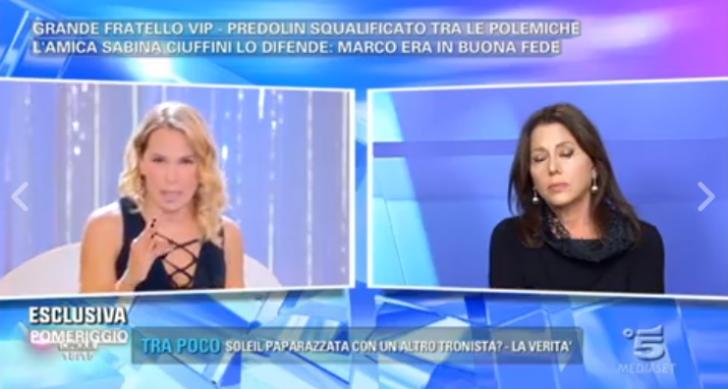 Grande Fratello Vip, Sabina Ciuffini difende Marco Predolin a Pomeriggio 5