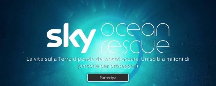 """""""Sky Ocean Rescue- Un mare da salvare"""", il pop up channel per il progetto per salvare gli oceani da parte di Sky"""