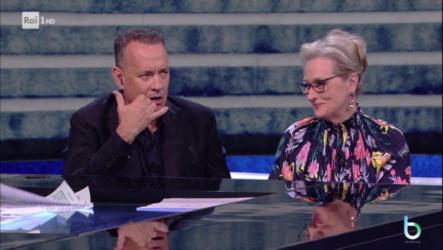 Meryl Streep e Tom Hanks a Che tempo che fa copy