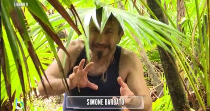 Simone Barbato prima settimana sull'isola copy