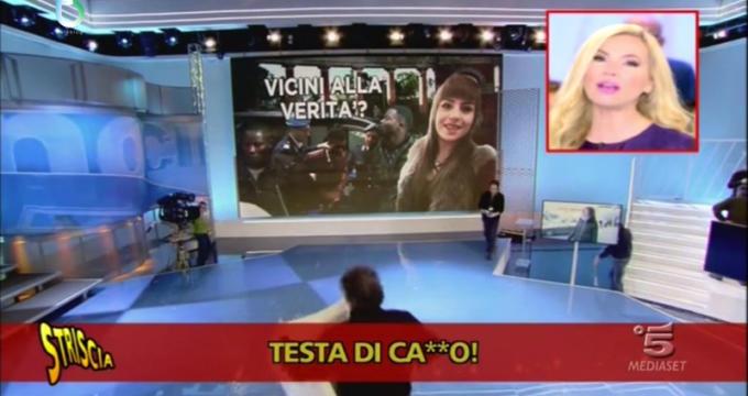 Federica Panicucci contro il collega