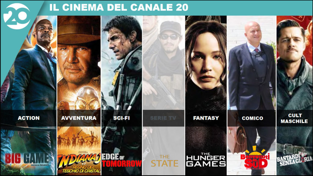 Mediaset canale 20 cinema e serie tv