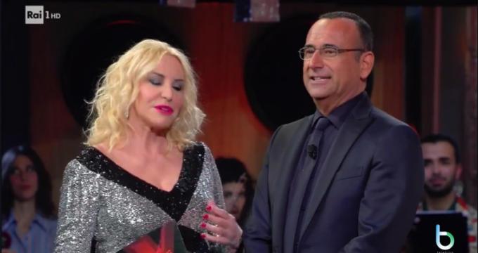 Antonella Clerici e Carlo Conti copy