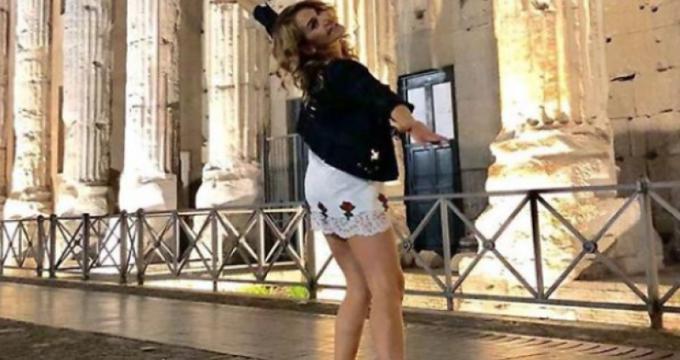 Barbara D'Urso a Roma