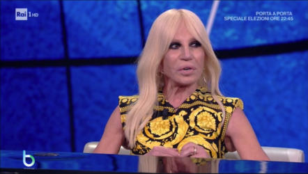 Donatella Versace a Che tempo che fa copy