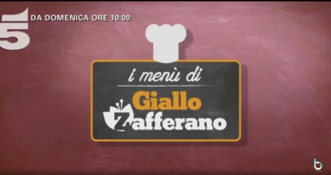 I menu di Giallo Zafferano domenica Canale 5 copy