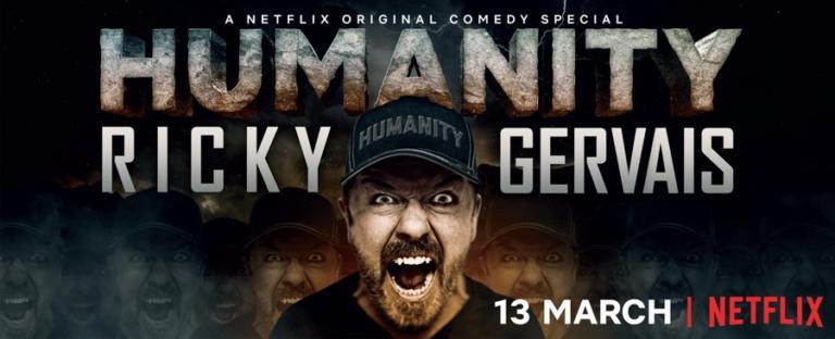 Ricky Gervais: Humanity: il nuovo show in esclusiva su Netflix dal 13 marzo