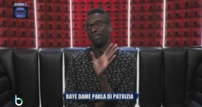 Grande fratello Baye Dame contro Patrizia copy
