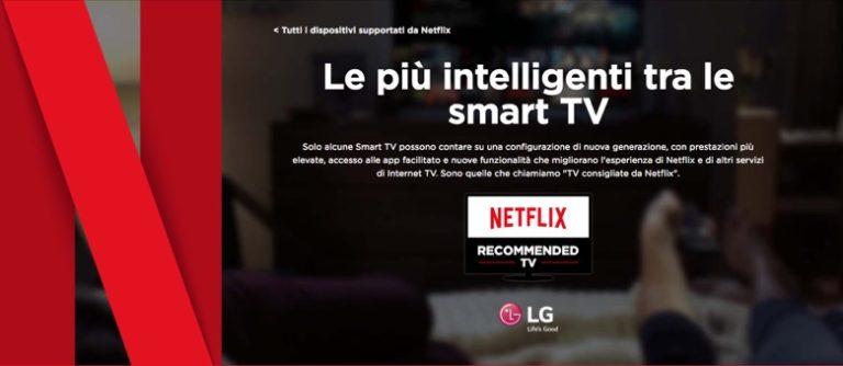Netflix e le tv raccomandate: al top LG