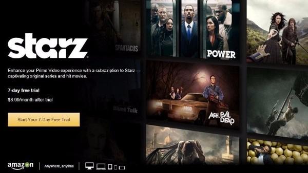 Lionsgate e Amazon uniscono le forze per espandere Starz in Europa