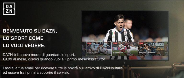 DAZN (Dazone), il nuovo canale web streaming per lo sport e la Serie A