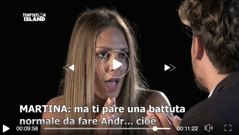 "Temptation Island 2018, Martina vs Teresa:""Cara Teresa…"""