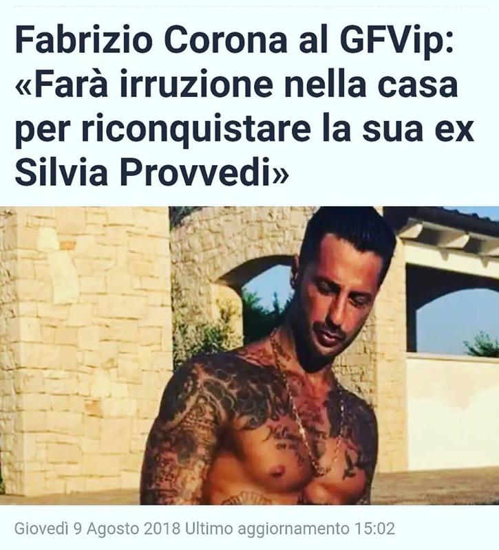 Fabrizio Corona al Gfvip